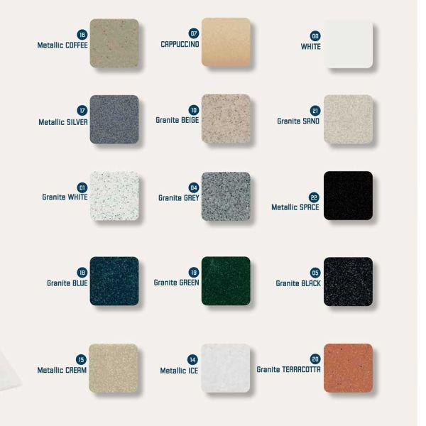 SANITEC CLASSIC 301 - Νεροχύτης κουζίνας-χρωματολόγιο