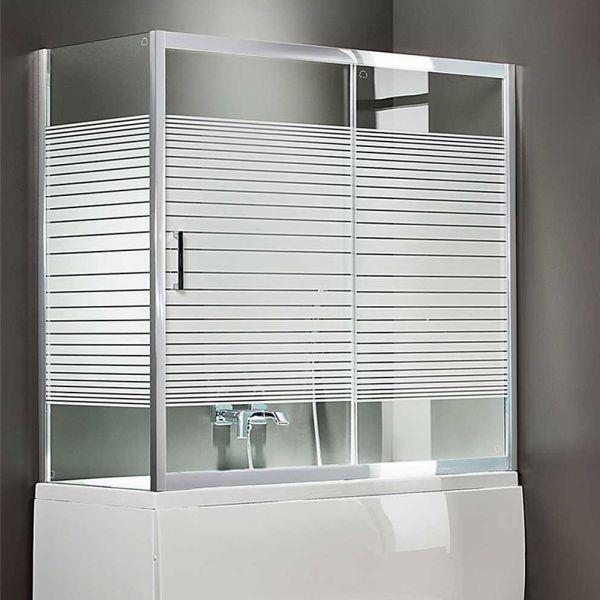 AXIS BATH SLIDER 1-1 SLBX - Καμπίνα μπανιέρας τοίχο-τοίχο με πλαινό