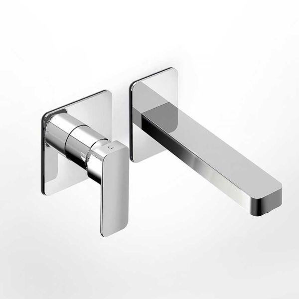 EURORAMA QUADRA 144904 - Μπαταρία μπάνιου νιπτήρα τοίχου