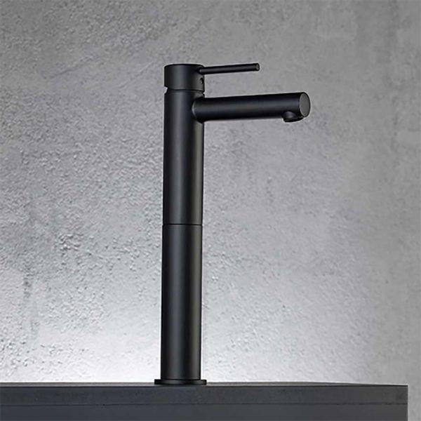 EURORAMA TONDA 145310P BLACK - Μπαταρία μπάνιου νιπτήρα