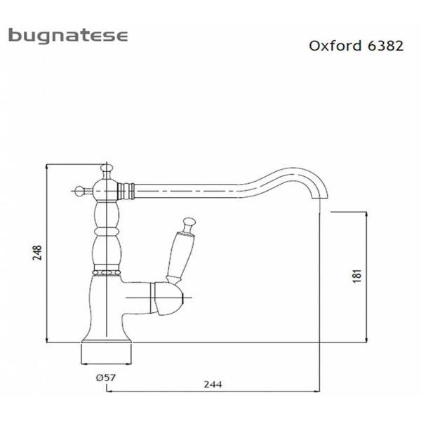 BUGNATESE OXFORD 6382 BRONZE - Μπαταρία κουζίνας-διαστάσεις