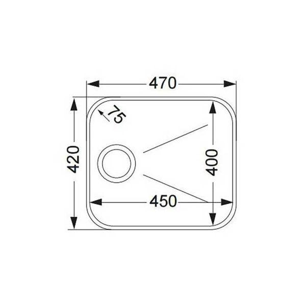 APELL 8445 - Νεροχύτης κουζίνας ανοξείδωτος-διαστάσεις