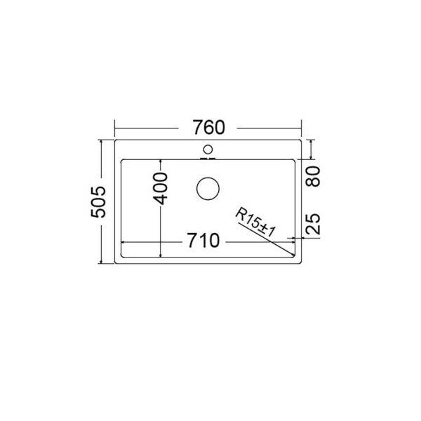 FORTINOX SQUADRO 29075 - Νεροχύτης κουζίνας ανοξείδωτος