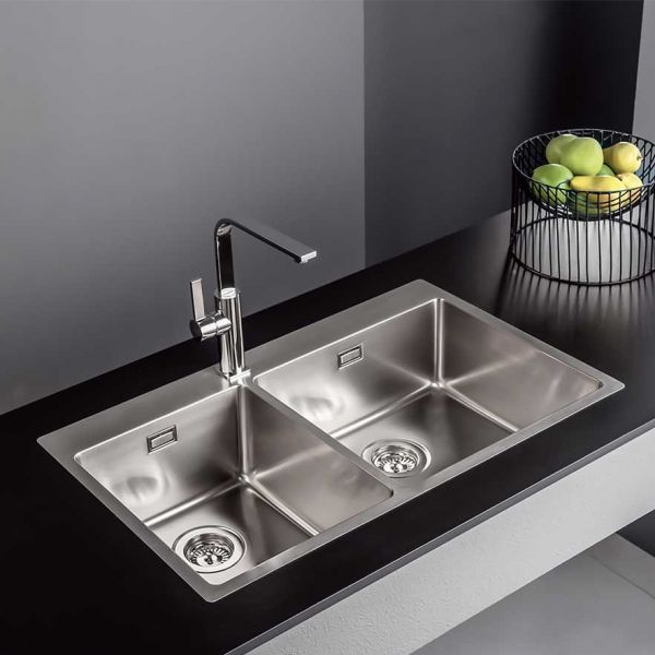 FORTINOX SQUADRO 29285 - Νεροχύτης κουζίνας ανοξείδωτος