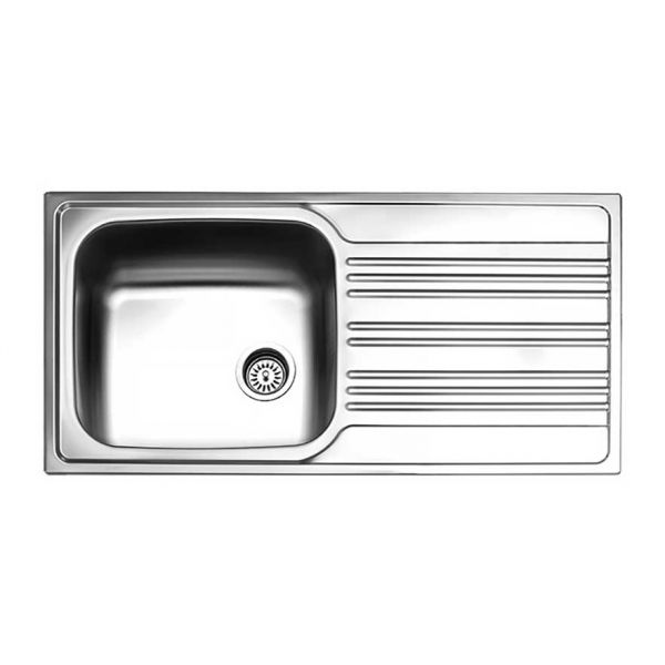 FORTINOX VALLEY 25110 - Νεροχύτης κουζίνας με 1 γούρνα & ποδιά