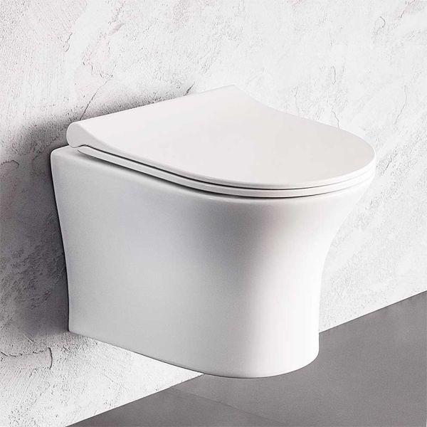 BIANCO CERAMICA AIDA RIMLESS 48 - Λεκάνη μπάνιου κρεμαστή
