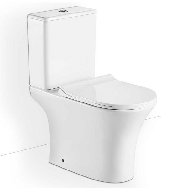 BIANCO CERAMICA AIDA RIMLESS 65 - Λεκάνη μπάνιου σετ