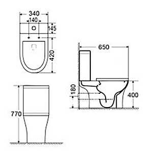 BIANCO CERAMICA AIDA RIMLESS 65 - Λεκάνη μπάνιου - διαστάσεις