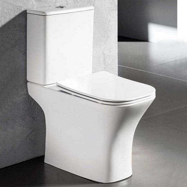 BIANCO CERAMICA DELIA RIMLESS 65 - Λεκάνη μπάνιου σετ