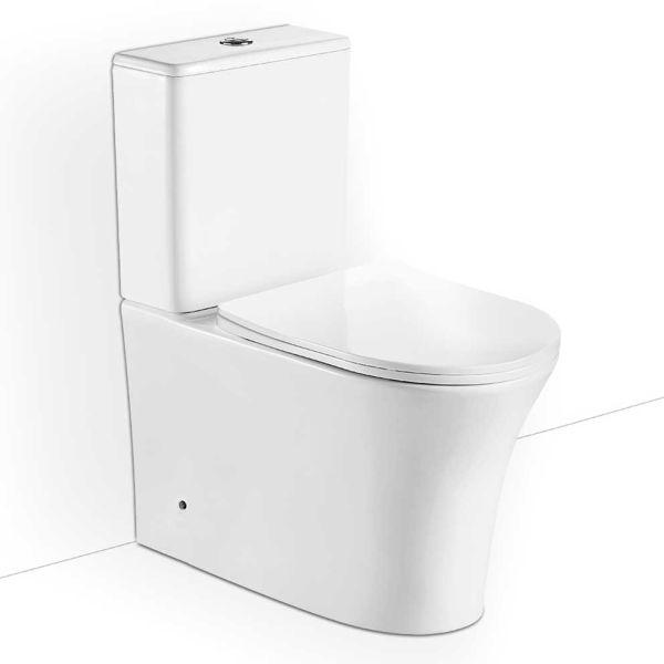BIANCO CERAMICA NERO RIMLESS 62 - Λεκάνη μπάνιου σετ