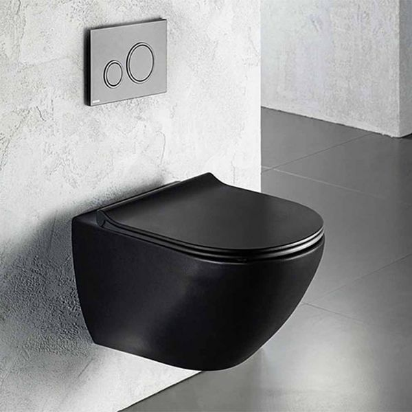 BIANCO CERAMICA REMO RIMLESS 56 BLACK - Λεκάνη μπάνιου κρεμαστή