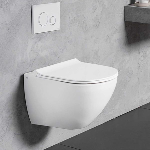 BIANCO CERAMICA REMO RIMLESS 52 - Λεκάνη μπάνιου κρεμαστή