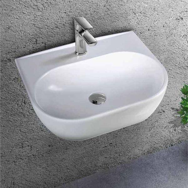 BIANCO CERAMICA STUDIO 45 - Νιπτήρας μπάνιου επιτοίχιος