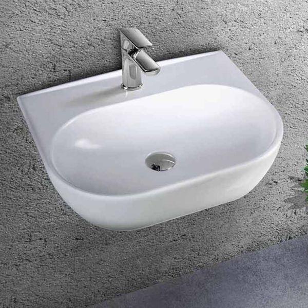 BIANCO CERAMICA STUDIO 50 - Νιπτήρας μπάνιου επιτοίχιος