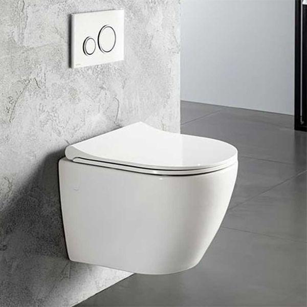 BIANCO CERAMICA VITO 48 - Λεκάνη μπάνιου κρεμαστή