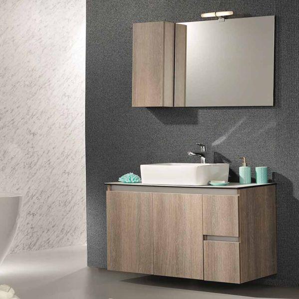 Έπιπλο μπάνιου CELINE-100-TOP κρεμαστό σετ
