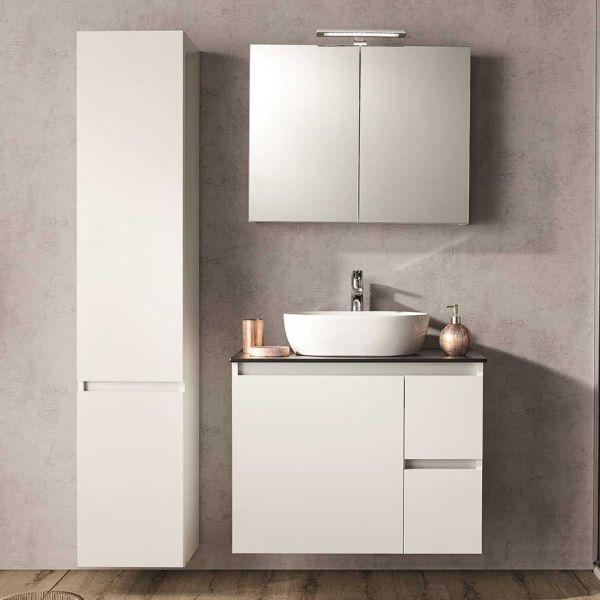 Έπιπλο μπάνιου CELINE-80-TOP με καθρέπτη-ντουλάπι