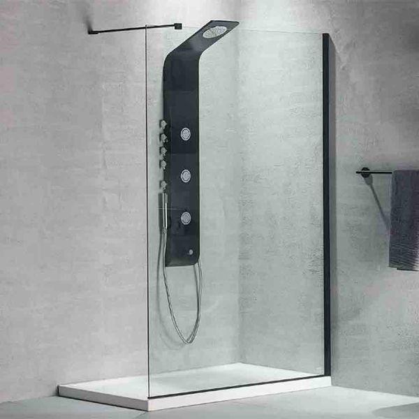 DEVON IWIS WALK-IN BLACK 90 - Διαχωριστικό κρύσταλλο μπάνιου βαρέως τύπου