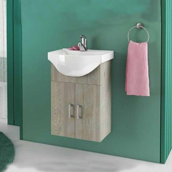 DROP ALBA 45 BASE BROWN - Έπιπλο μπάνιου με νιπτήρα κρεμαστό