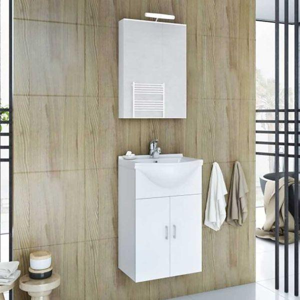 DROP ALBA 45 OPEN WHITE - Έπιπλο μπάνιου κρεμαστό πλήρες