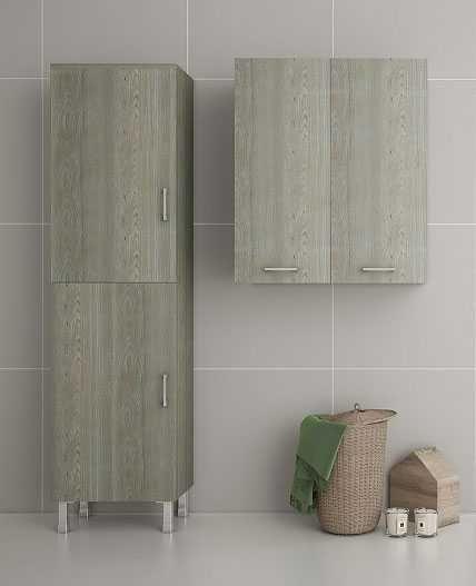 DROP ALBA BROWN - Στήλη μπάνιου και ντουλάπι μπάνιου