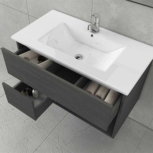 DROP SORRENTO 85 GRAPHITE - Έπιπλο μπάνιου κρεμαστό σετ