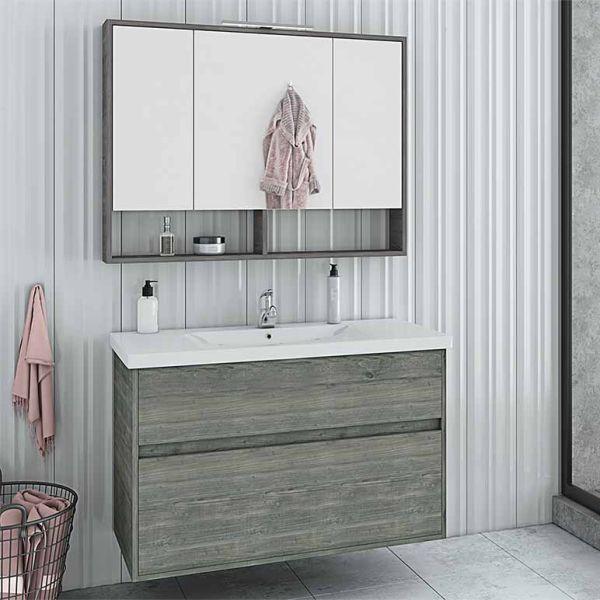 DROP INSTINCT 100 SMOKED - Έπιπλο μπάνιου κρεμαστό πλήρες σετ