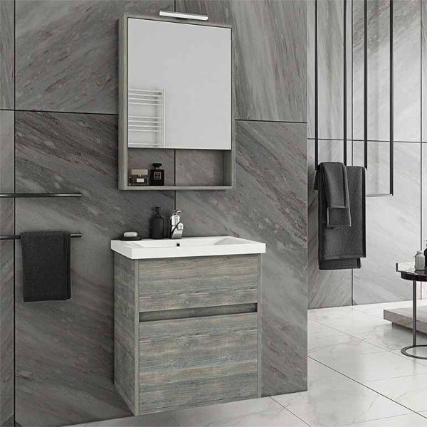 DROP INSTINCT 55 SMOKED - Έπιπλο μπάνιου κρεμαστό πλήρες σετ