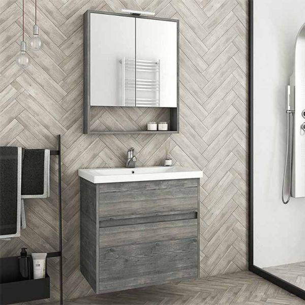 DROP INSTINCT 65 SMOKED - Έπιπλο μπάνιου κρεμαστό πλήρες σετ