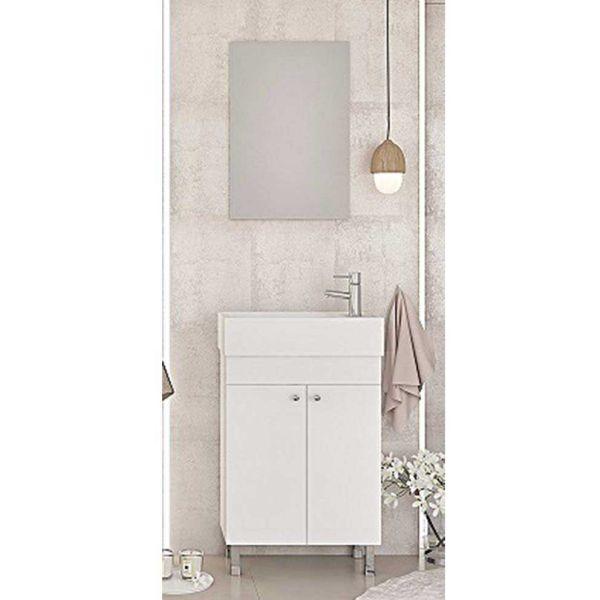 DROP LITOS 50 SG WHITE - Έπιπλο μπάνιου δαπέδου με νιπτήρα
