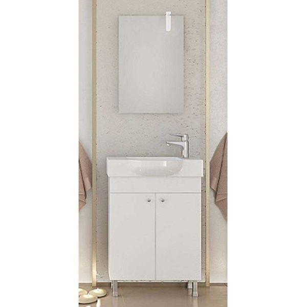 DROP LITOS 55 SG WHITE - Έπιπλο μπάνιου δαπέδου με νιπτήρα