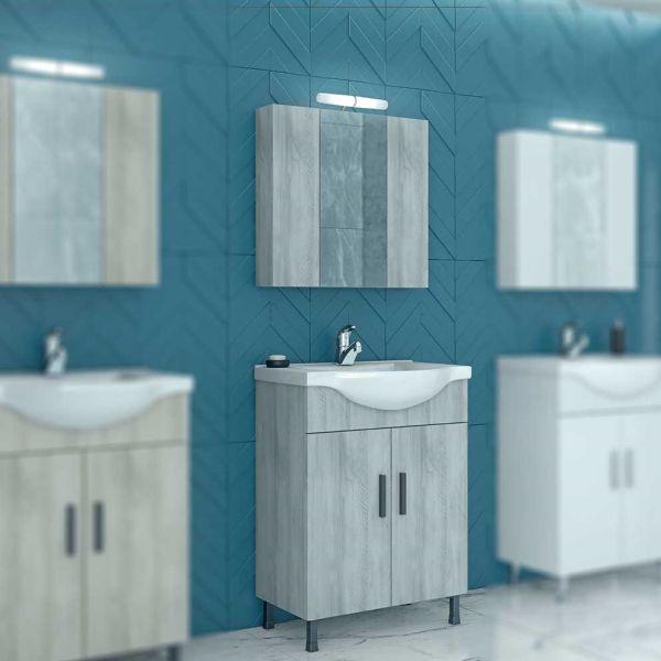 Έπιπλο μπάνιου LUNA 65 GRAY - Έπιπλο μπάνιου δαπέδου πλήρες