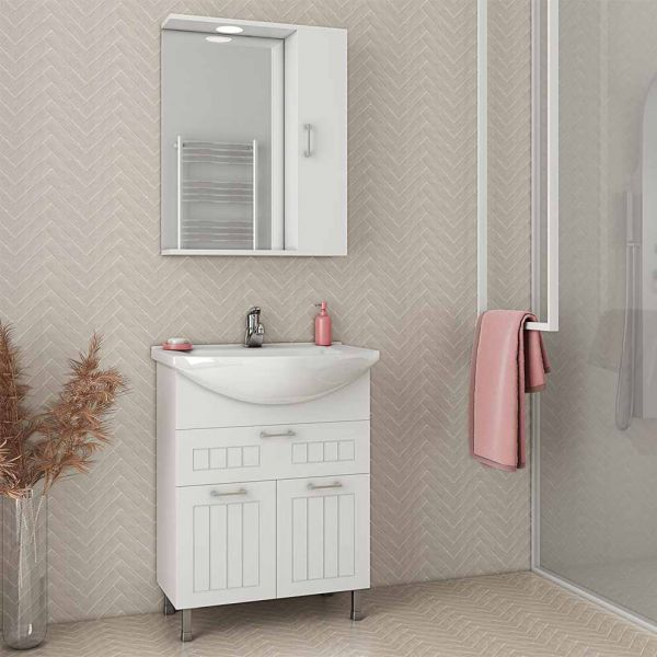 DROP RITMO 65 WHITE - Έπιπλο μπάνιου δαπέδου πλήρες σετ