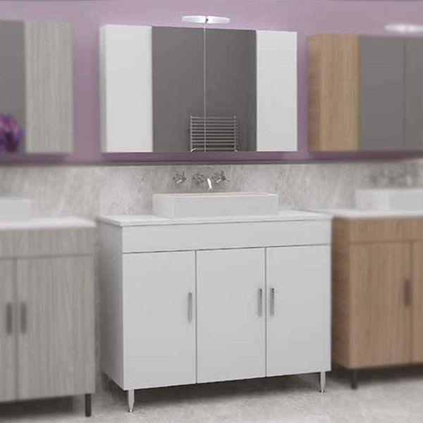 DROP ROMA 100 TOP WHITE - Έπιπλο μπάνιου δαπέδου σετ
