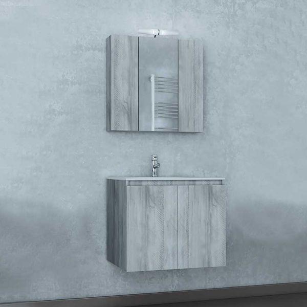 Έπιπλο μπάνιου VERONA 60 GRAY - Έπιπλο μπάνιου κρεμαστό πλήρες