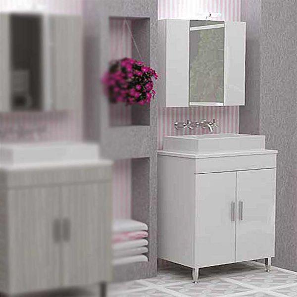 DROP ROMA 60 TOP WHITE - Έπιπλο μπάνιου δαπέδου σετ