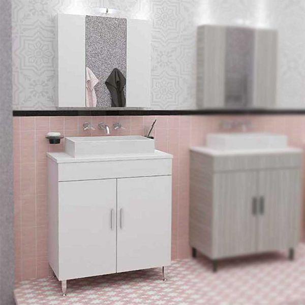DROP ROMA 70 TOP WHITE - Έπιπλο μπάνιου δαπέδου σετ