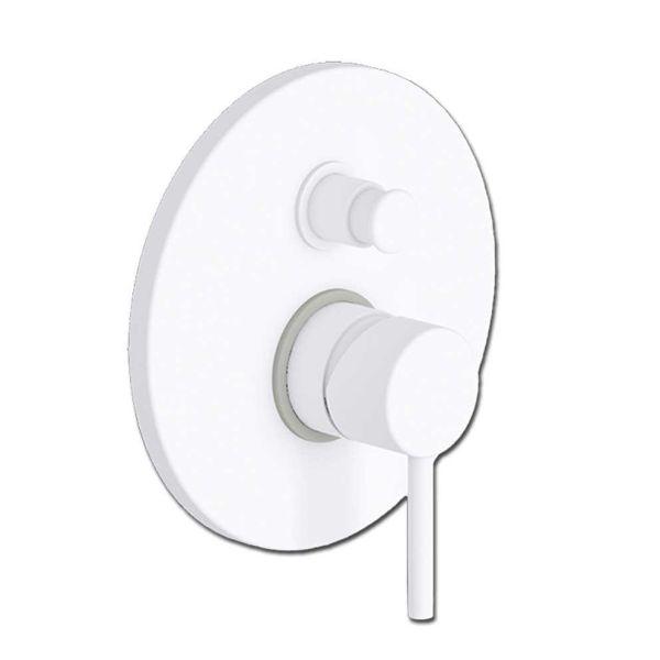 EURORAMA TONDA WHITE MATT 145033 - Εντοιχιζόμενη μπαταρία ντους
