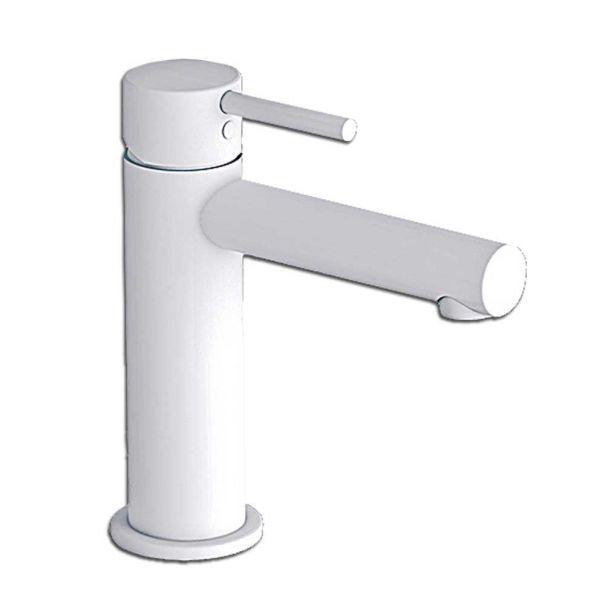 EURORAMA TONDA WHITE MATT 145310 - Μπαταρία μπάνιου νιπτήρα λευκό