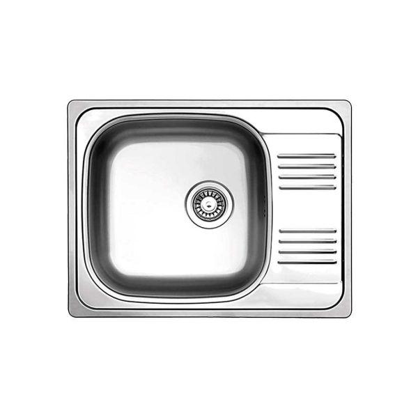 FORTINOX VALLEY 25165 - Νεροχύτης κουζίνας inox με 1 γούρνα & ποδιά
