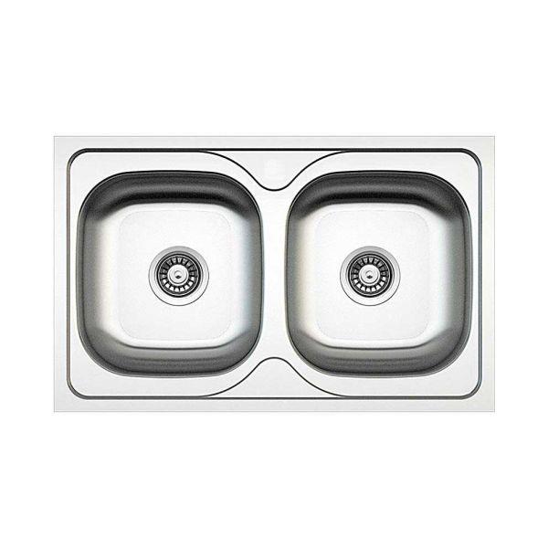 FORTINOX VALLEY 25200 - Νεροχύτης κουζίνας inox Με 2 γούρνες