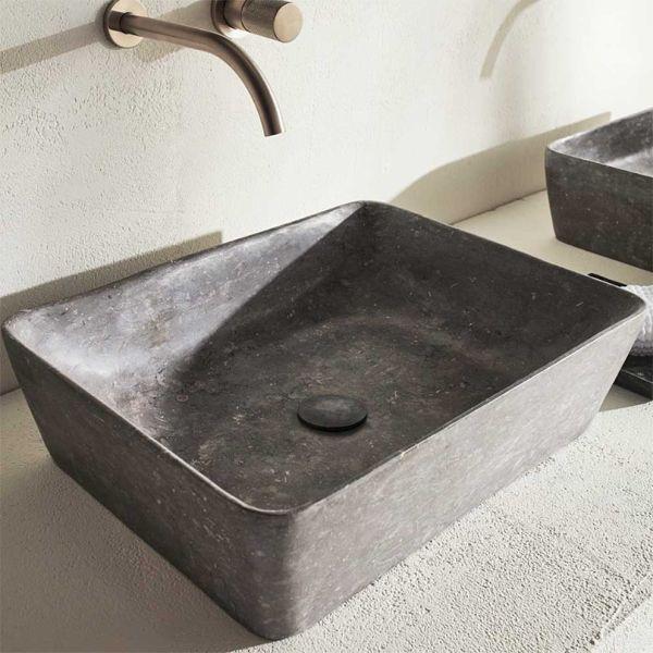FOSSIL JADE 60 GREY - Νιπτήρας μπάνιου μάρμαρο