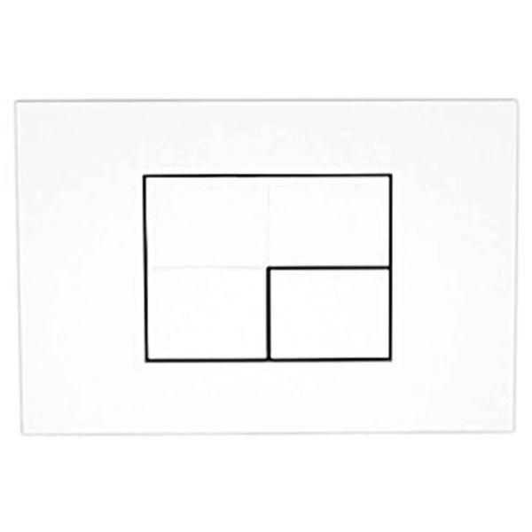 KARAG P45-0130 - Πλάκα διπλής ενεργοποίησης λευκό