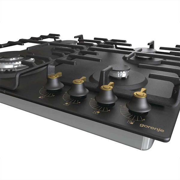 GORENJE GW642CLB 737639 BLACK - Εστία κουζίνα εντοιχισμένη ρουστίκ