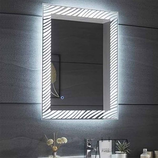 Καθρέπτης μπάνιου GRIGLIA-60 ορθογώνιος με led