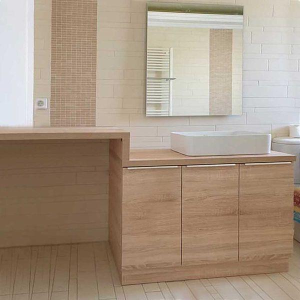 Έπιπλο μπάνιου HORECA-140 δαπέδου με θέση πλυντηρίου