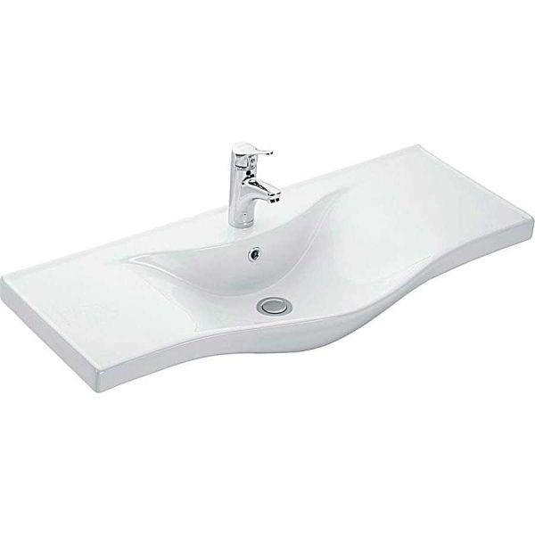 KARAG BASIC 7100 - Νιπτήρας μπάνιου τοίχου/επίπλου