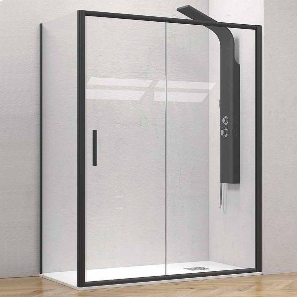 KARAG EFE 400 BLACK - Καμπίνα μπάνιου τοίχο-τοίχο μαύρο