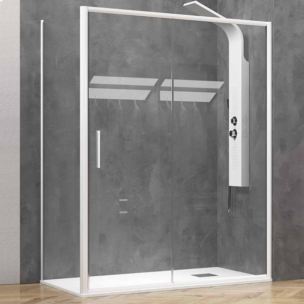 KARAG EFE 400 WHITE - Καμπίνα μπάνιου τοίχο-τοίχο λευκό