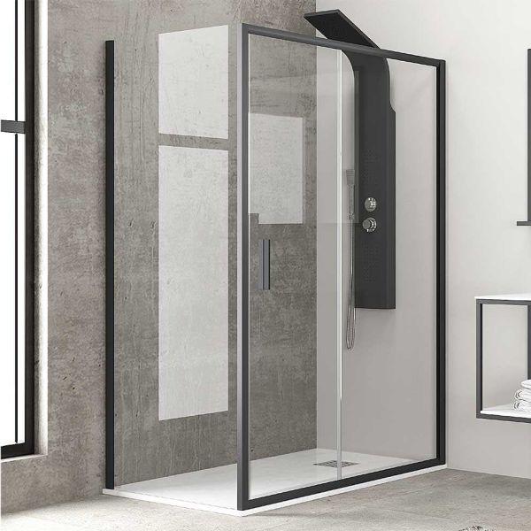 Καμπίνα μπάνιου STEELTH-BLACK ντουζιέρας